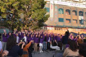 2018年にフェイスゴスペルが出演した吹田ジャズゴスペルフェスティバルの様子