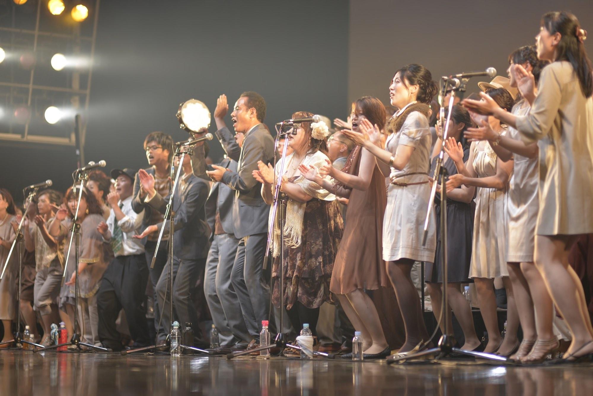 大阪、京都、三宮で活躍するゴスペル教室フェイスのゴスペルコンサートの様子