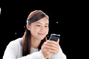 ゴスペル無料体験の日程を選ぶ女性の写真