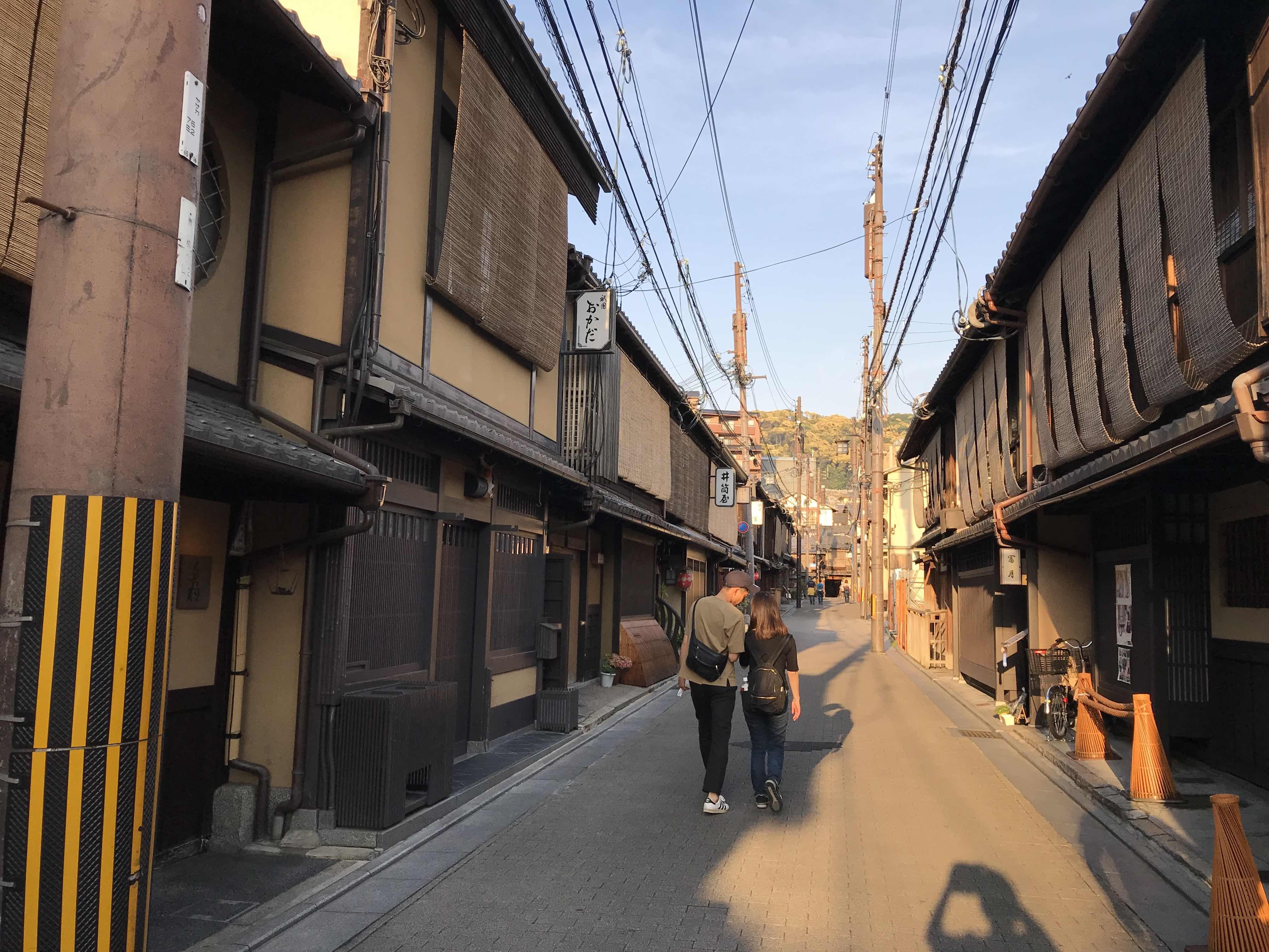 京都観光へ。祇園の風景