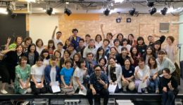 大阪市内で行われたフェイスゴスペル代表KatsuプロデュースのJacoo Gospel Singersによるゴスペルワークショップの集合写真