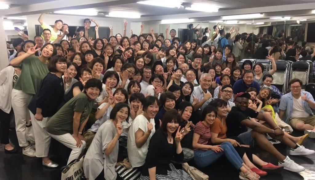 梅田で行われたVincent Bohananのゴスペルワークショップのメンバー集合写真