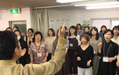 フェイスゴスペル恒例ゴスペル強化練習の大阪梅田クラスの様子