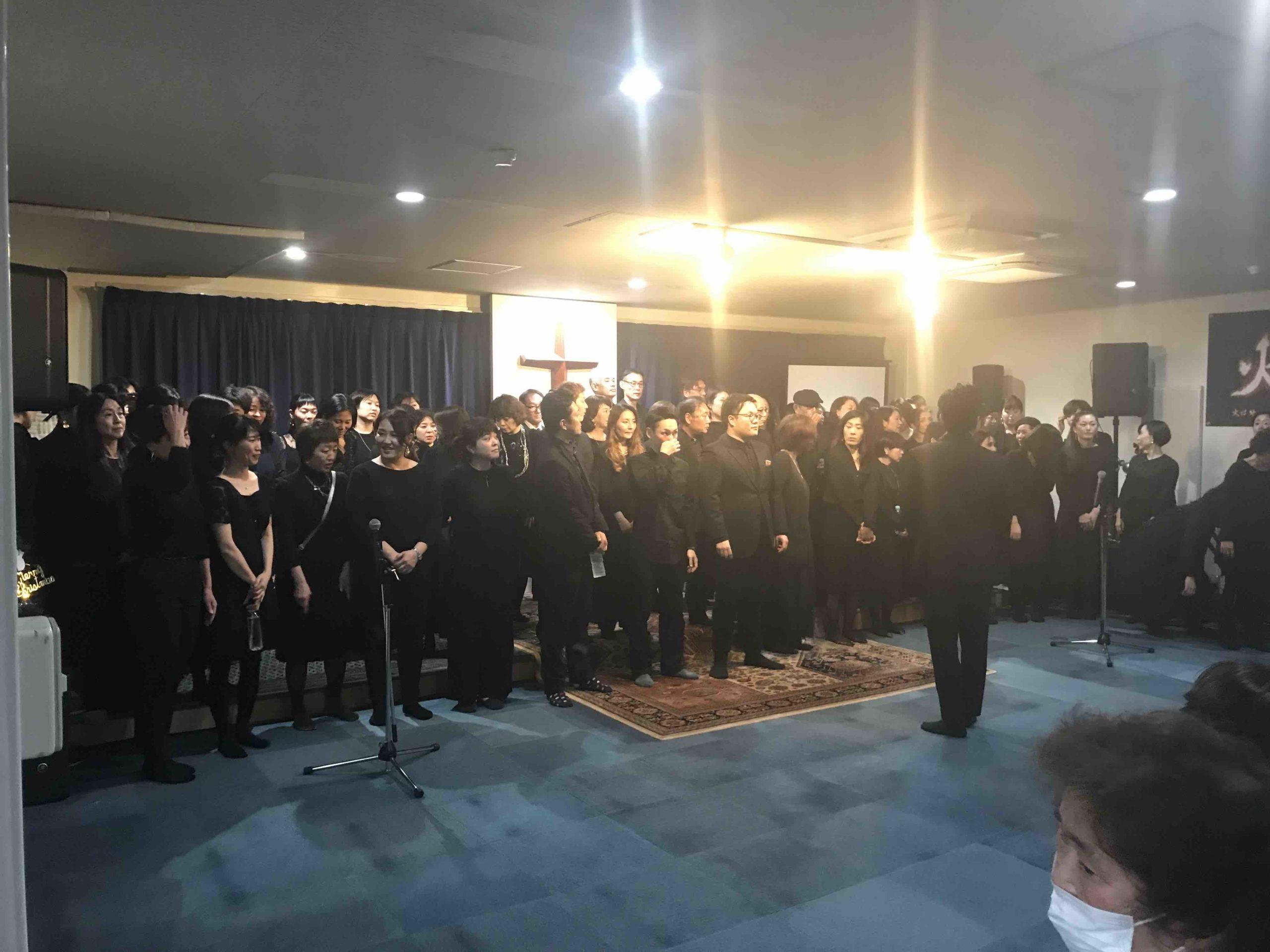 2019年12月24日に堺市エレベートチャーチで行われたゴスペルコンサートの様子