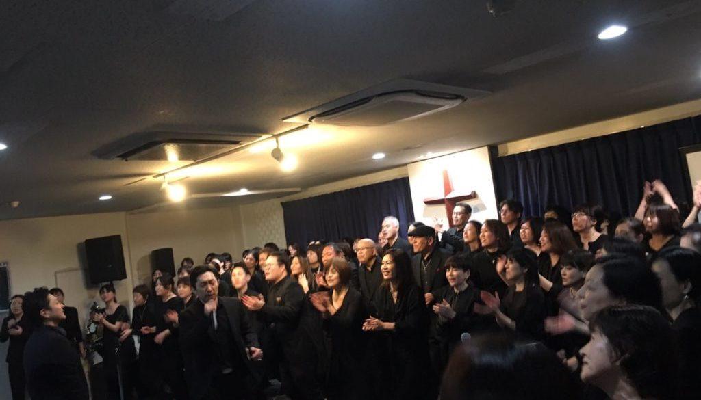 2019年12月24日に堺市エレベートチャーチで行われたクリスマスゴスペルコンサートの様子の写真
