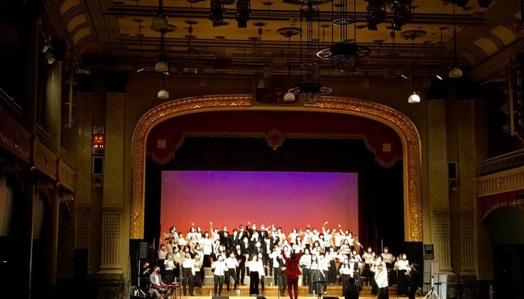 2020年12月26日に行われたフェイスゴスペルの大阪市中央公会堂ゴスペルコンサートの様子