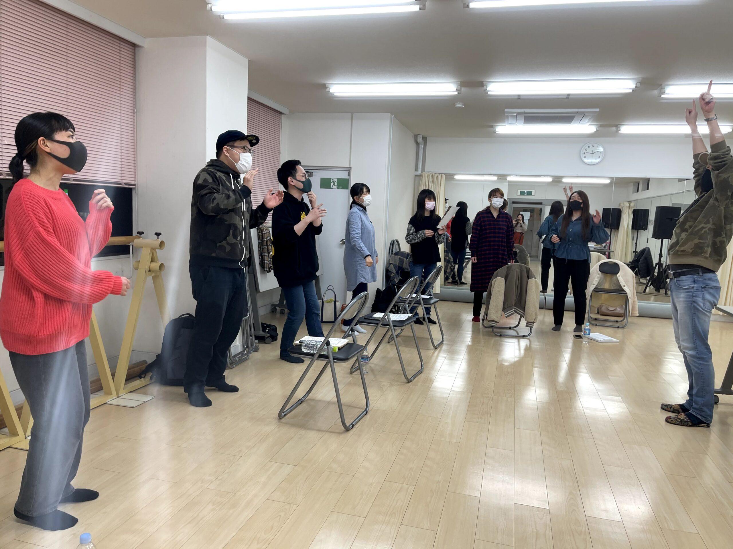 フェイスゴスペル難波クラス若い世代クラスの練習風景